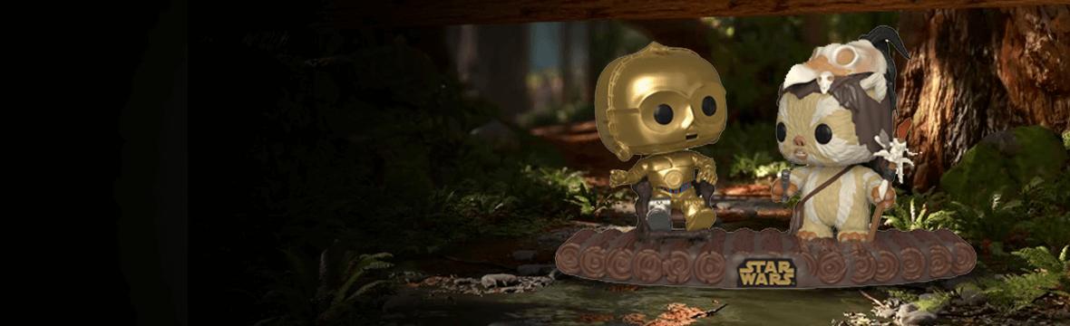 APENAS ANUNCIADO: Movie Moment Star Wars C3PO y Ewok Logray en Endor