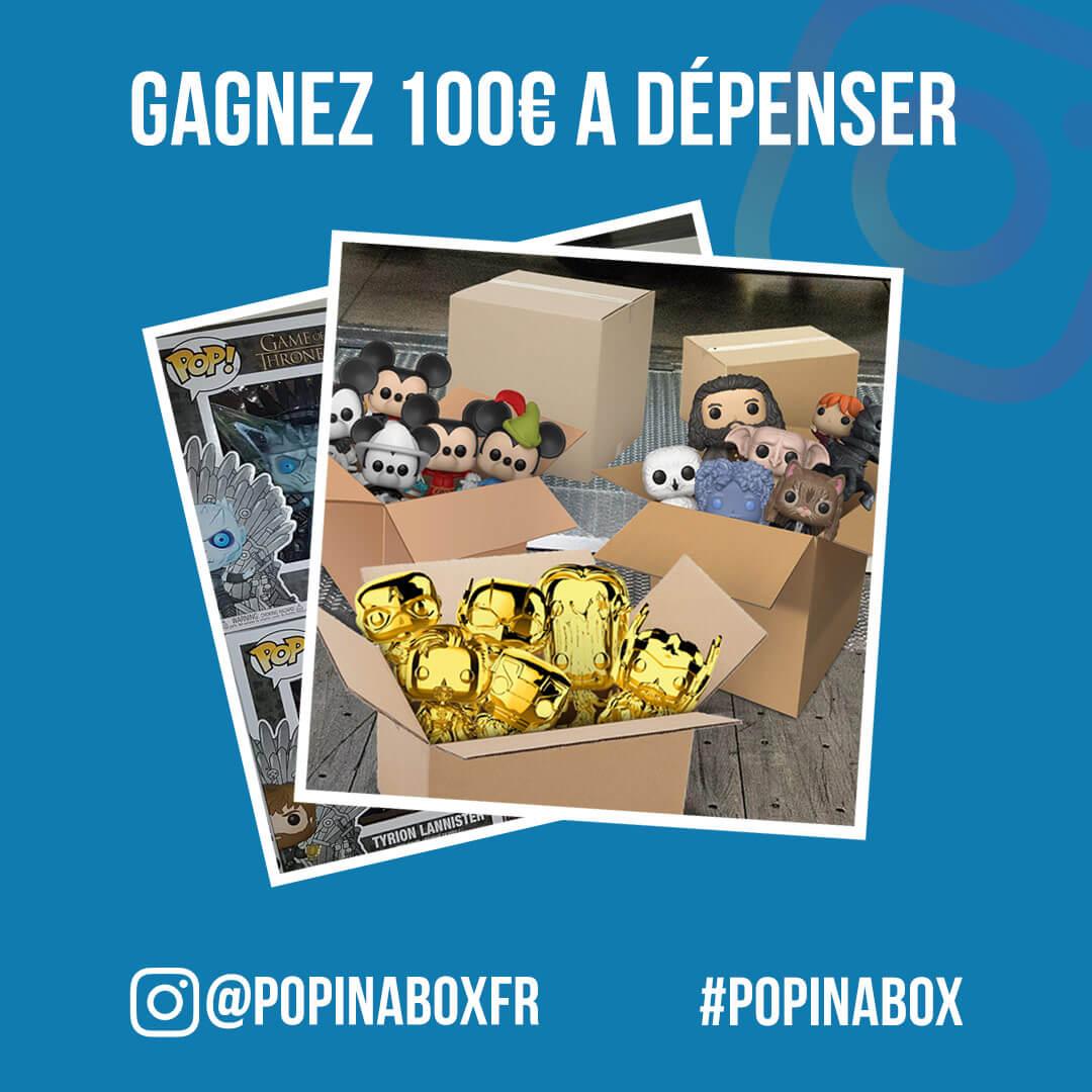 Gagnez €100 de crédit à dépenser sur Pop in a Box! 🎁🎉