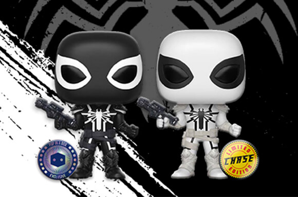 Agent Venom is the coolest Marvel character to join the Pop In A Box Stickered Exclusives collection! If you're very very lucky, you could receive the color-inverted white Chase Variant.