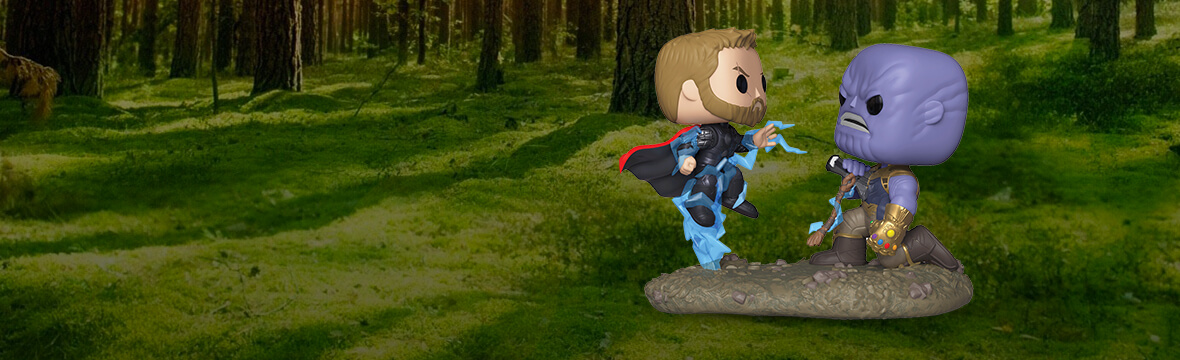 Nuovo Pop! Movie Moment Marvel<br>⚡️Thor vs Thanos⚡️