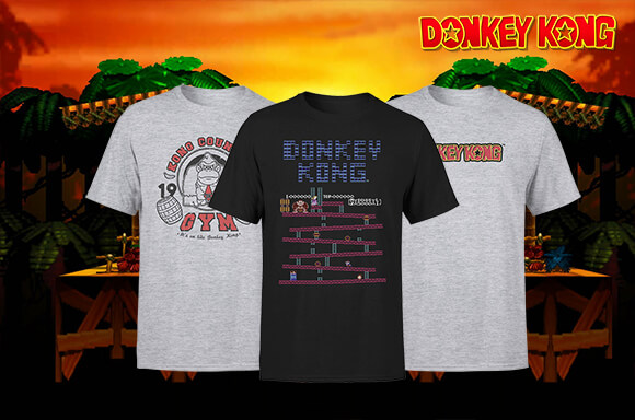 DONKEY KONG T-SHIRTS ONLY £8.99 PLUS FREE DELIVERY!