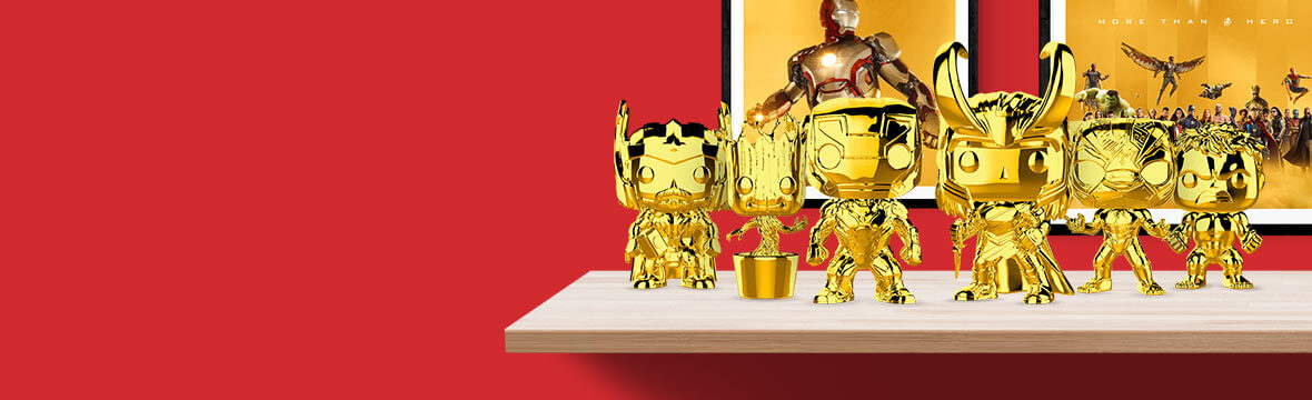 ccfc70eff2e Celebrate 10 years of the Marvel Cinematic Universe with Gold Chrome Funko  Pops! Now available for pre-order!