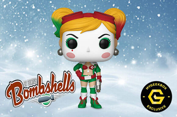 Figurine Pop! DC Bombshell Harley Quinn Festive- Exclusivité My Geek Box