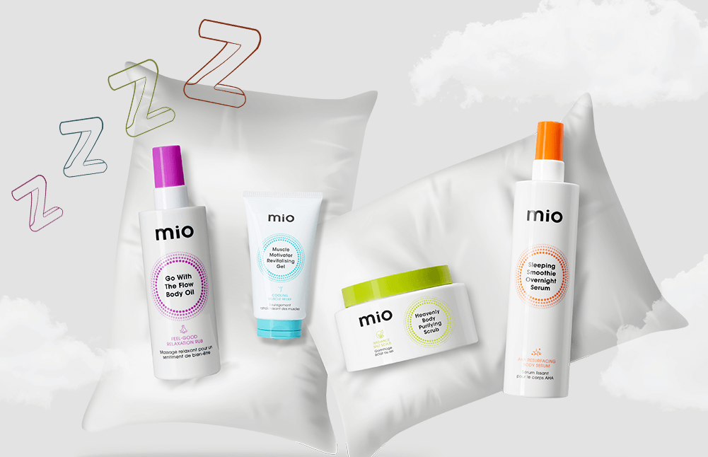This Sleep Awareness Month, nod off with Mio's zen-inducing bodycare essentials and shop our curated edit  to help you achieve a great night's sleep!