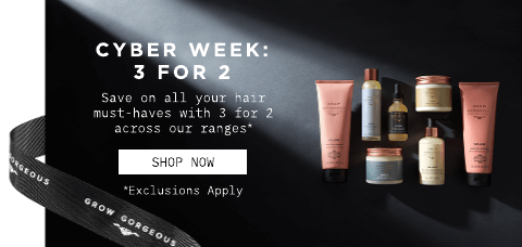Cyber Weekend 3 for 2. Click to shop