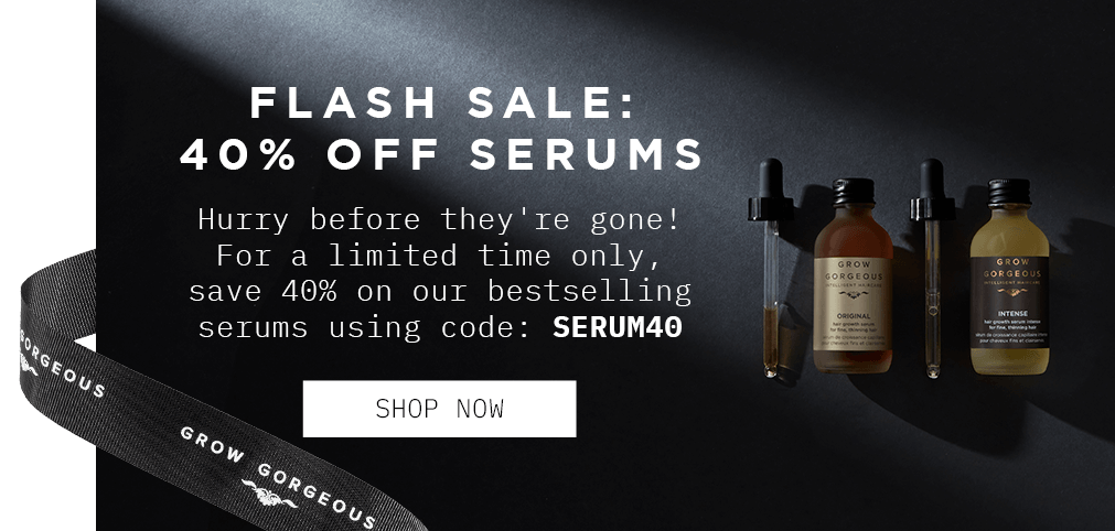 flash sale: 40% off Serums