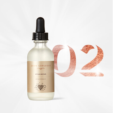 Gorgeous Hair Routine Step 2 Shine Serum