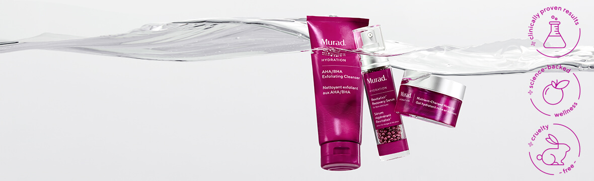 clinically proven results, science backed, cruelty free products from murad