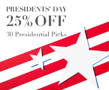 25% off 25 Presidential Picks