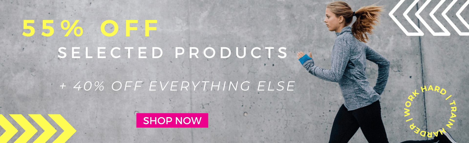 55% OFF SELECTED PRODUCTS