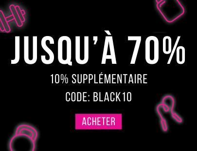 -Jusqu'à 70% – 10% supplémentaire avec le code BLACK10