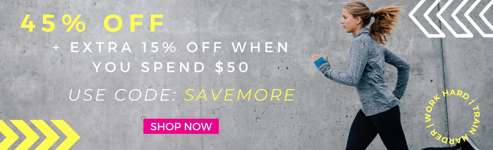 45% OFF + EXTRA 15% OFF WHEN YOU SPEND $50 WITH CODE: SAVEMORE