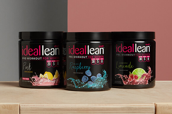 IdealLean pre-workout tubs