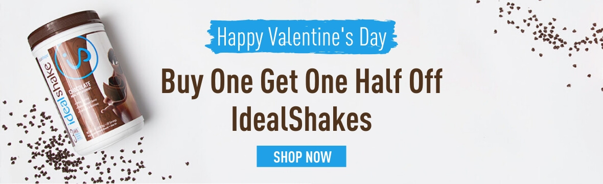 Happy Valentine's Day Buy One Get One Half Off IdealShakes