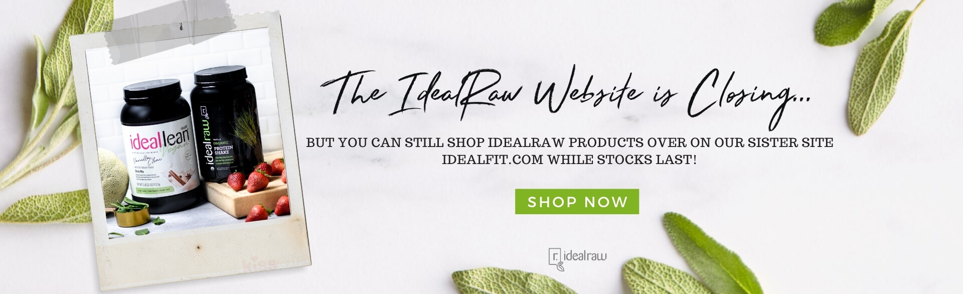 Ideal Raw is closing down