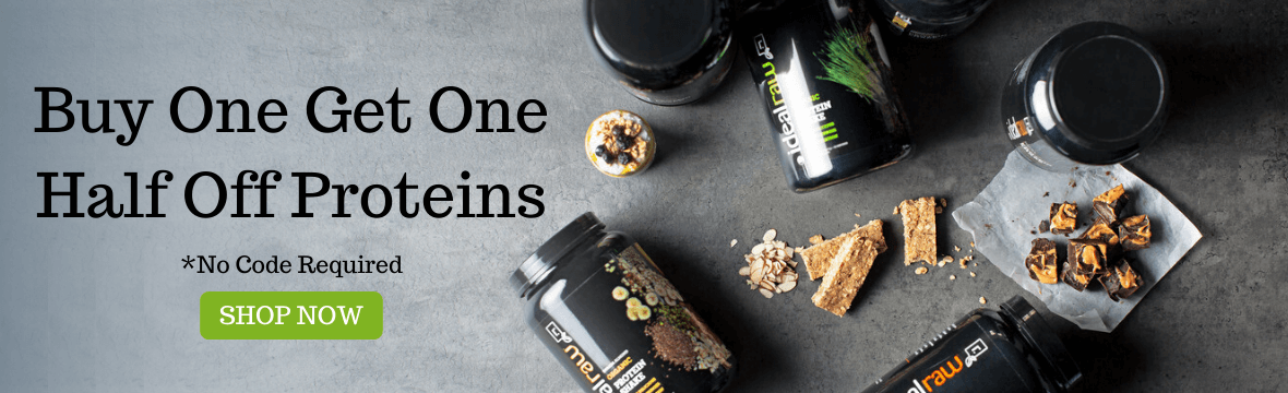 Buy one get one half off proteins