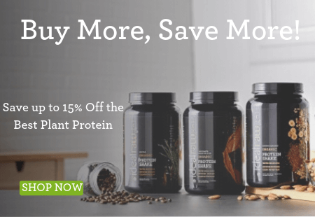 3 tubs of protein advertising buy more, save more up to 15% off proteins