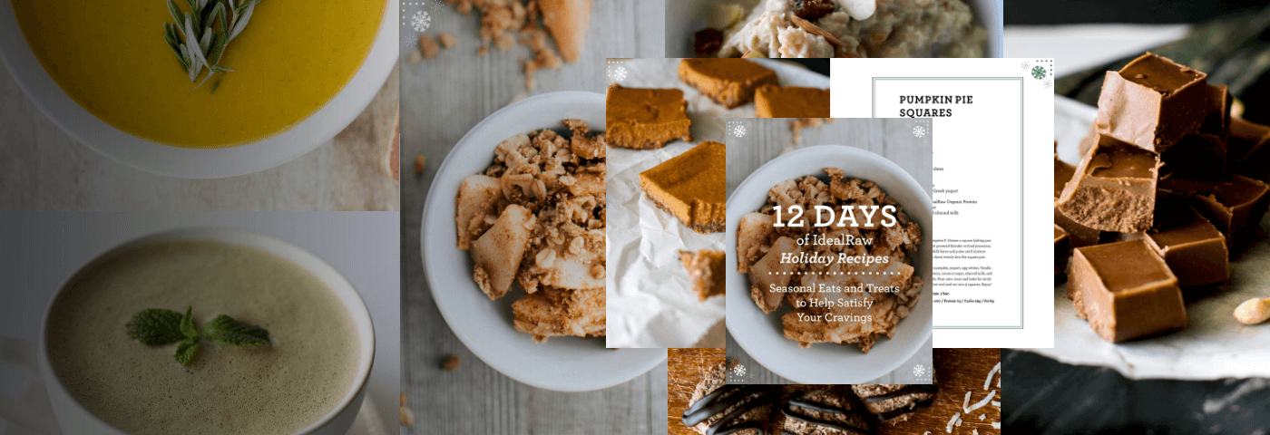 FREE Holiday Recipe eBook with purchase!