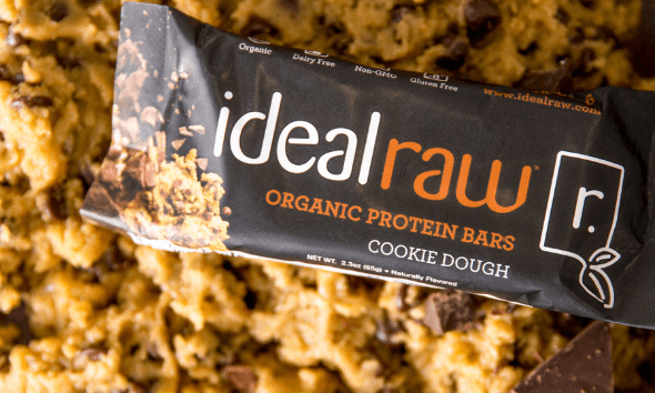 IdealRaw Organic Protein Bars Cookie Dough