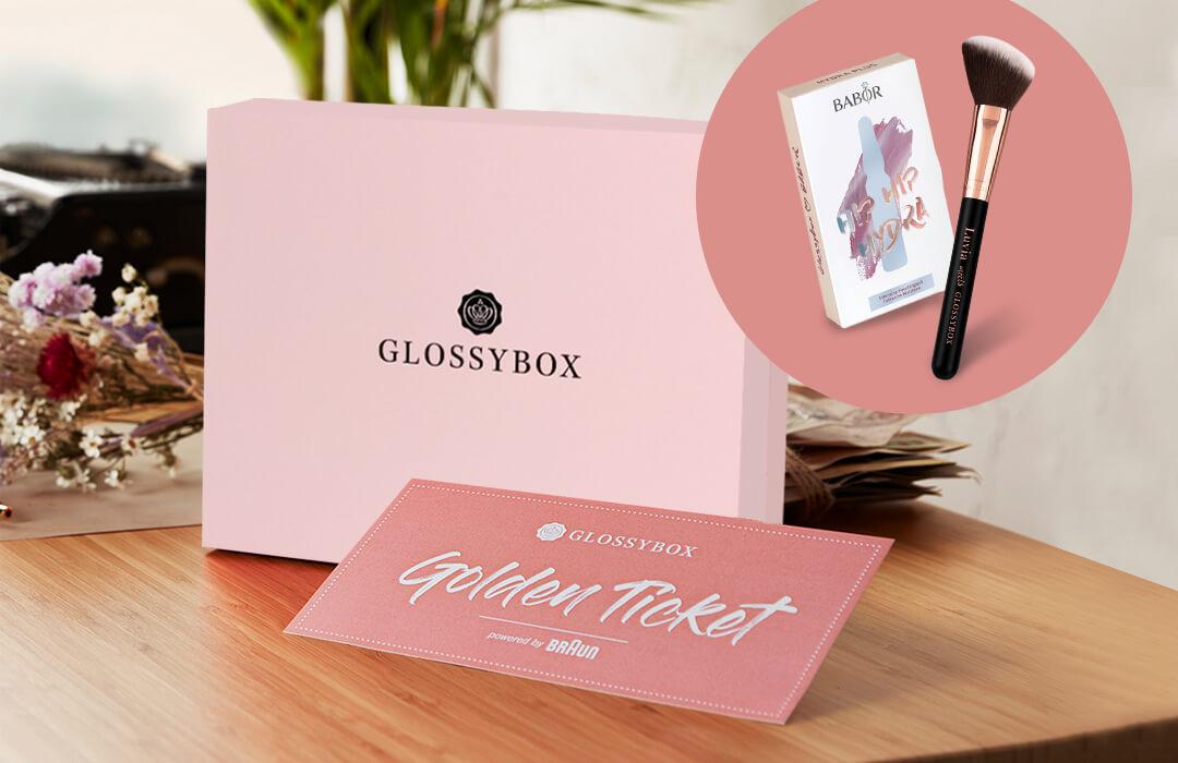 GLOSSYBOX NukundenK Box Braun Epillierer Golden Ticket