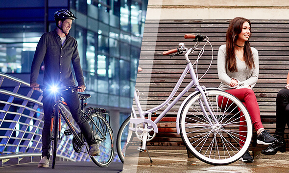 Insync Viking and Ryedale Commuter Bikes in the city