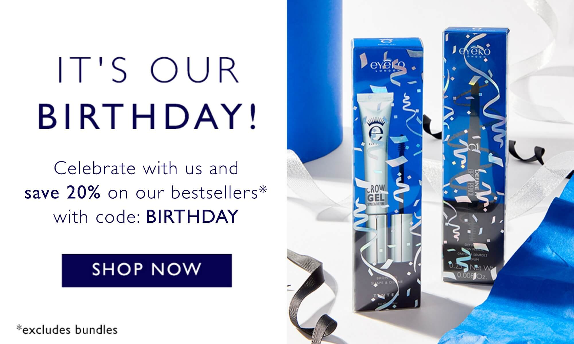 Its our birthday - celebrate with us and save 20% on our bestsellers with code: BIRTHDAY