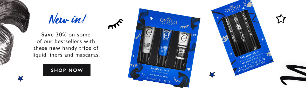 Mascara and Liner Trial Kits - Save 30% off on our bestsellers now available in handy mini trios