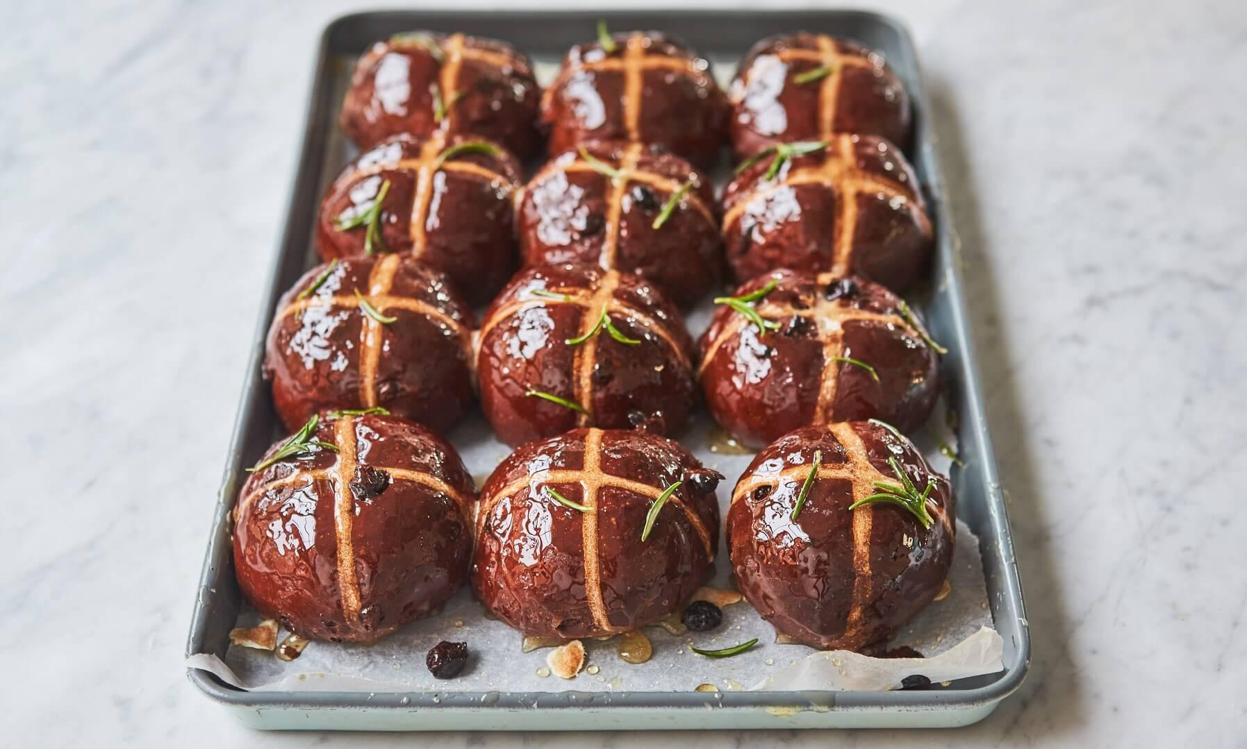 What do you need to make homemade hot cross buns?