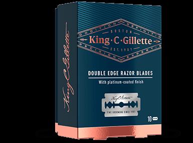 King C. Gillette Double Edge Safety Razor Blades; Doppelklingen für Rasierhobel, 10 Rasierklingen