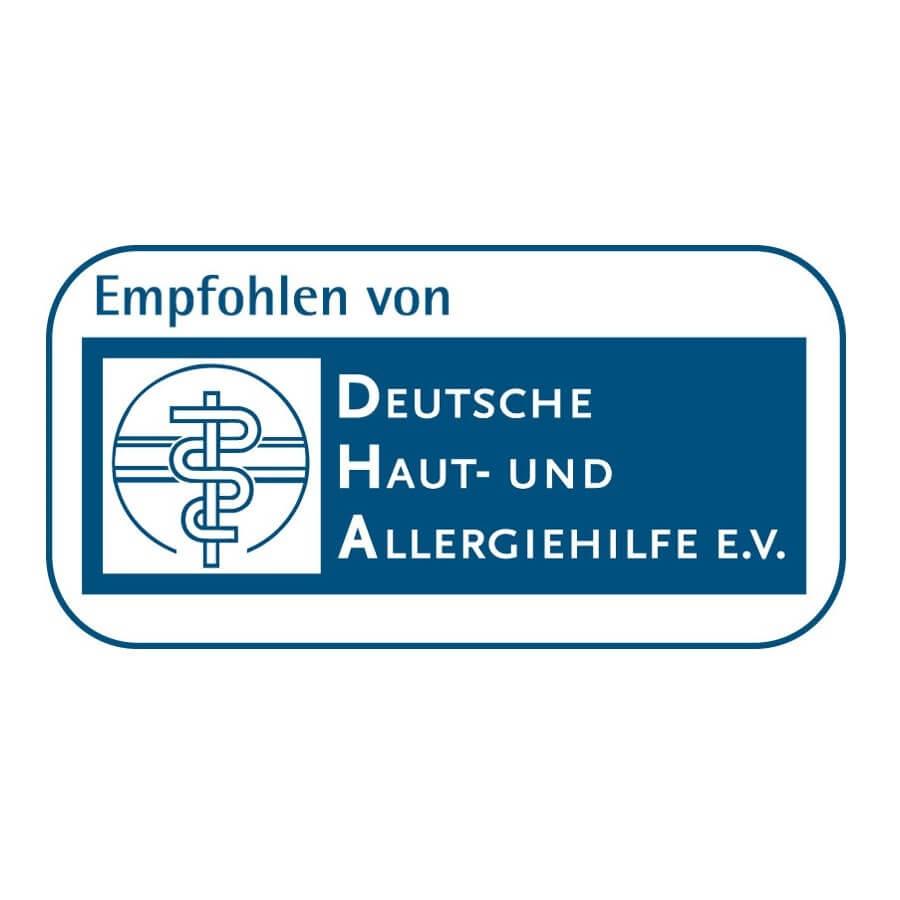 Deutsche Haut- und Allergiehilfe Siegel | DHA Logo | Gillette DE