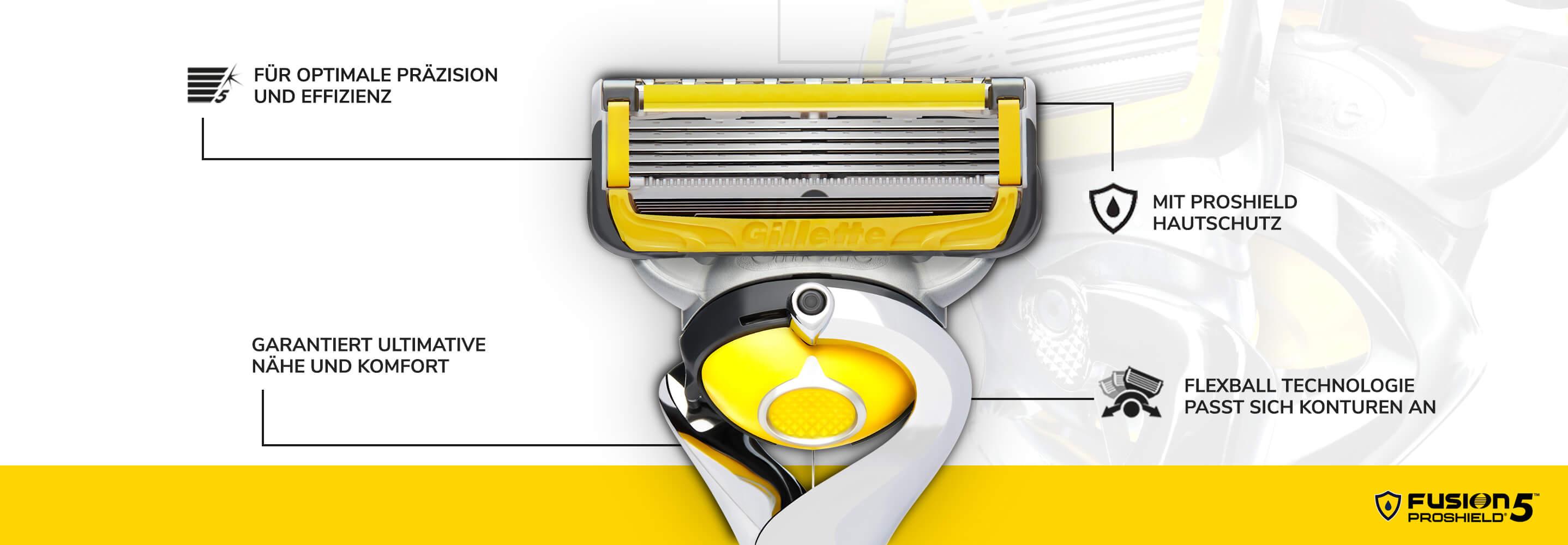 Fusion5 ProShield Rasierer Portfolio: Rasierer für präzise, effiziente Rasur mit Hautschutz | Gillette DE