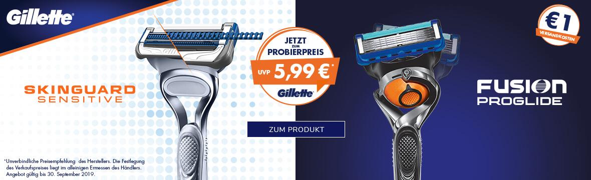 SkinGuard Sensitive & Fusion5 ProGlide Rasierer zum Probierpreis von nur 5,99€