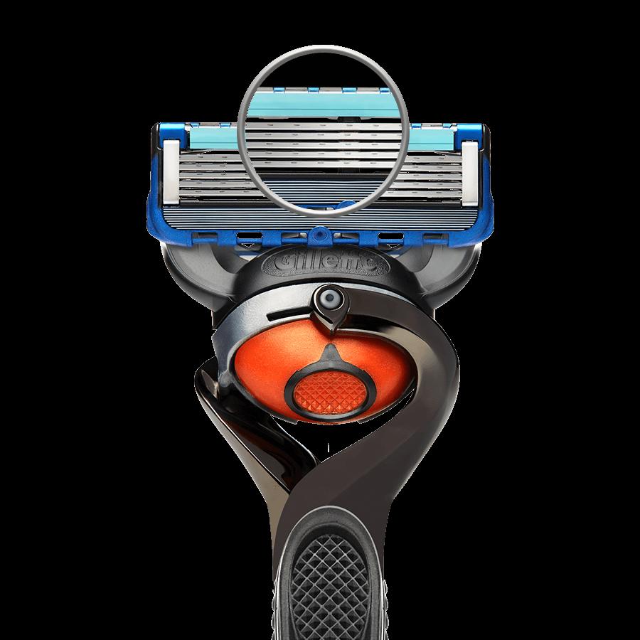 Fusion5 ProGlide hat optimierte Rasierklingen mit dünnen, feinen Schneidekanten und einer fortschrittlichen Beschichtung für geringeren Widerstand, die eine mühelose Rasur ermöglichen.