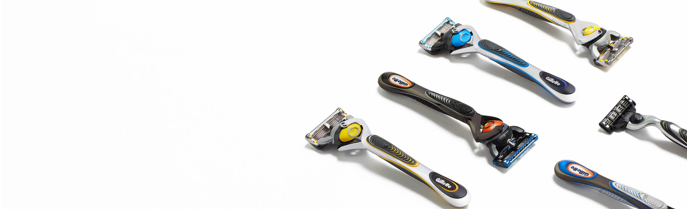 The Gillette razor range