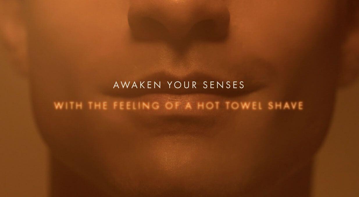 Awaken your senses with the Gillette hot razor
