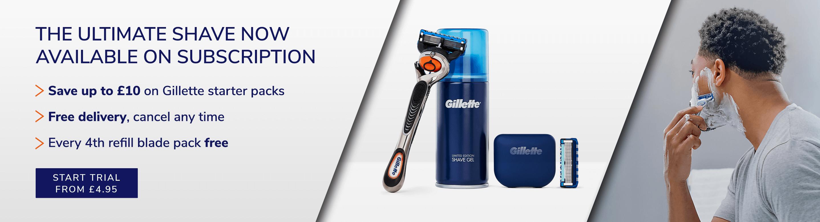 Gillette shaving subscription information
