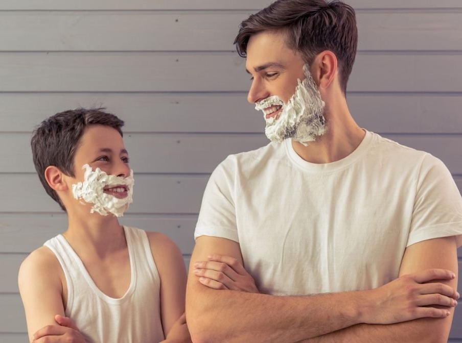 How to Teach Your Son to Shave