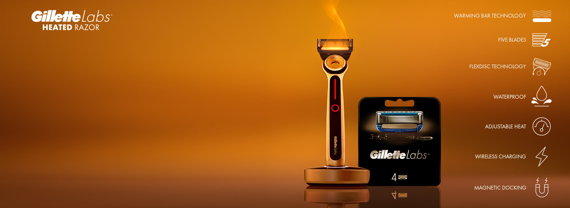 Gillette Heated Razor & Blades