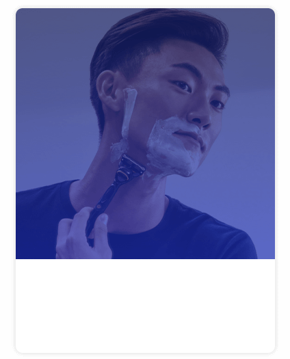 Man shaving with Gillette razor
