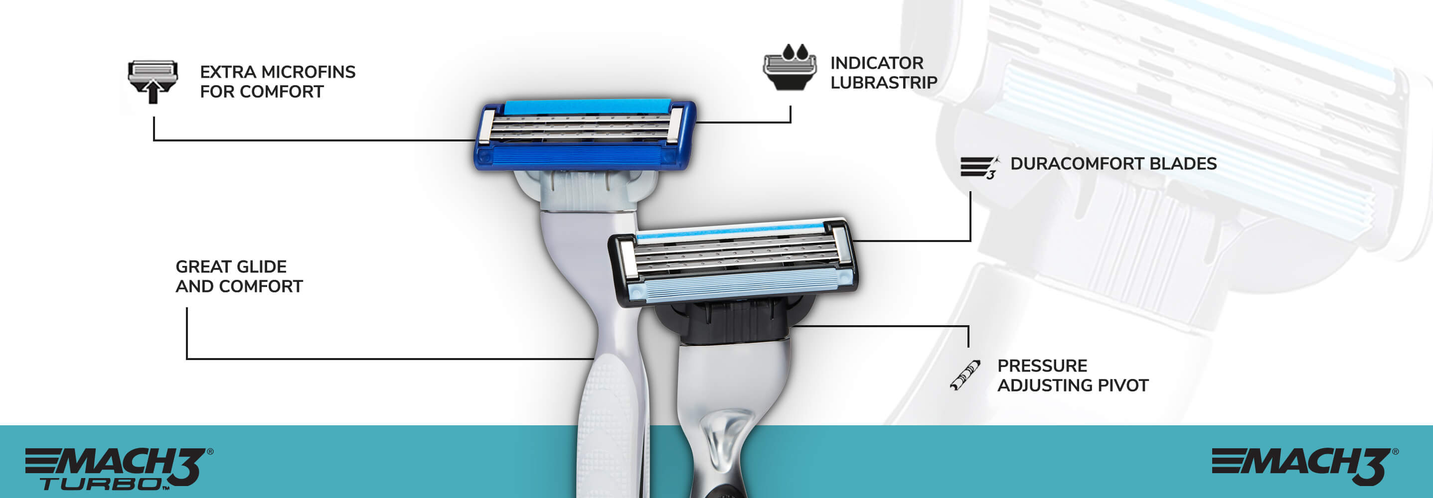 Illustration of Gillette Mach3 razor