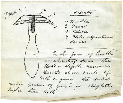 Original design of Gillette razor.