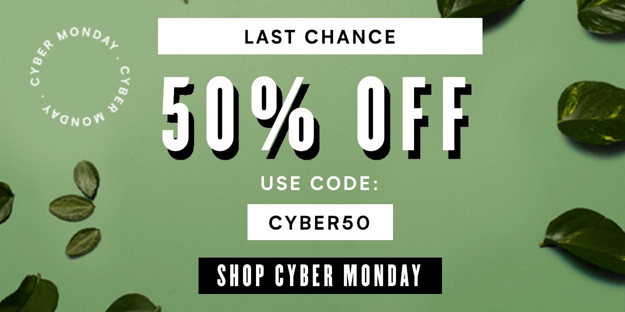 50% Off  | Code: CYBER50