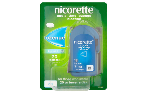 NICORETTE® 2mg Lozenge. Given that you want something discreet and you smoke on average less than 10 cigarettes a day, Nicorette® 2mg Lozenge may suit you. NICORETTE Lozenges come in a stylish and discreet packaging and the lozenge gives you a subtle way to relieve cravings.
