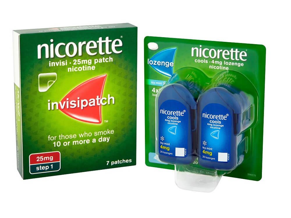 NICORETTE®  InvisiPatch  + NICORETTE® Cools Lozenge  £108.74 per month*
