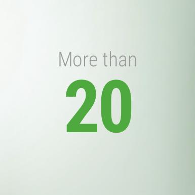 More than 20