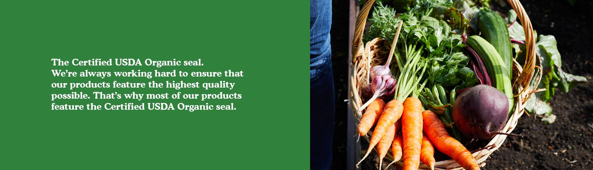 The certified USDA organic seal