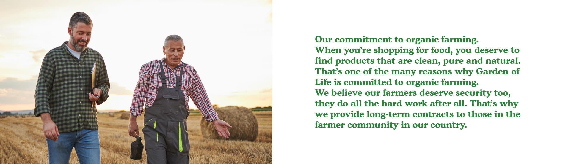 Our commitment to organic farming