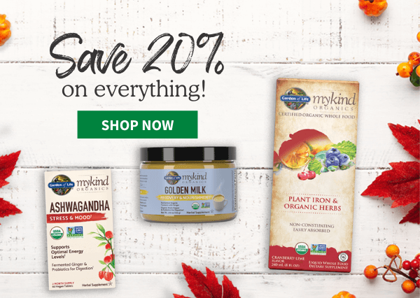 Garden of Life 3 for 2 on all individual products