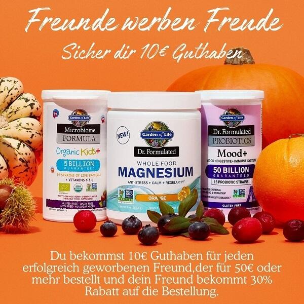 Freunde werben Freunde - Du bekommst 10€ Guthaben für jeden erfolgreich geworbenen Freund, der für 50€ oder mehr bestellt und dein Freund bekommt 30% Rabatt auf die Bestellung.
