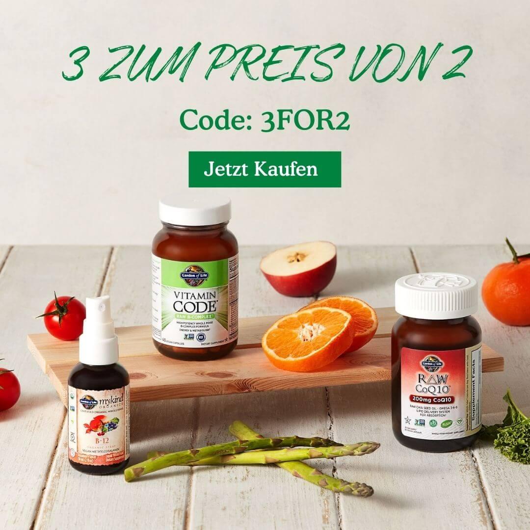 3 zum Preis von 2 mit Code: 3FOR2